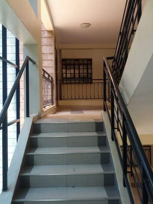Stairs to the apartment. Located on the 2nd Floor