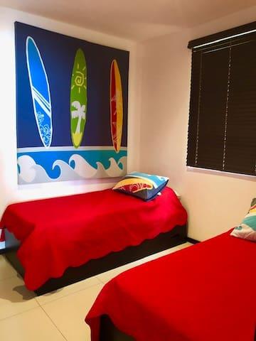 room #2 (3 twin beds)