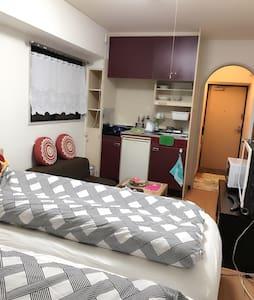 近道頓堀-免費攜帶型WIF-獨立衛浴套房 - Ōsaka-shi