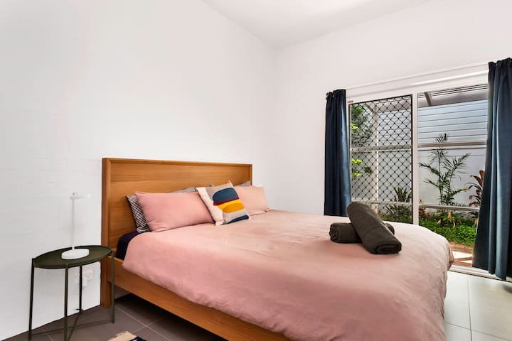 Bedroom 2 with courtyard
