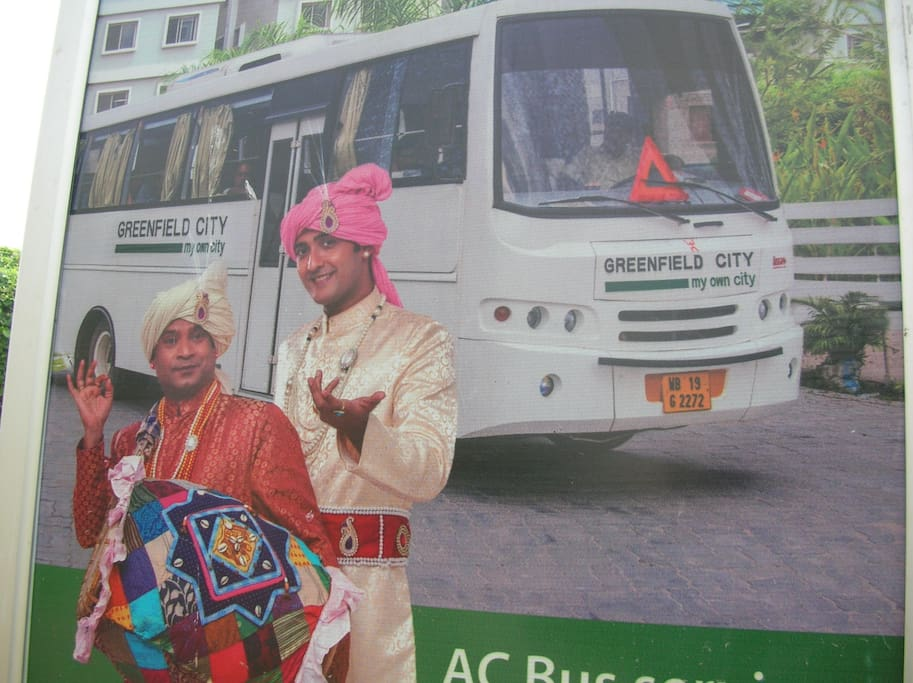Full Day AC Bus from Property to Tollygunge Metro Station.