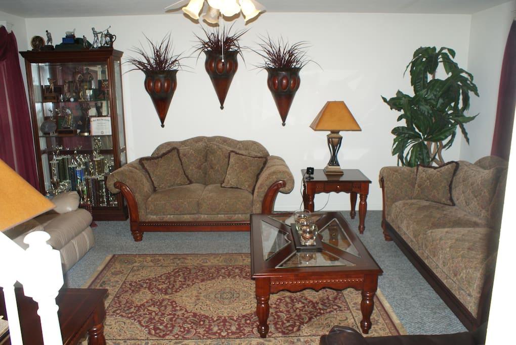 Living Room also has 2 luxury Rocker  Recliners.