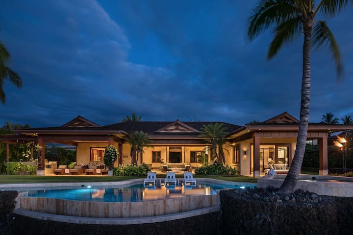 Ocean view, Estate, Fairway front, Pool, Tropical luxury, Pu'u Kole Estate #106