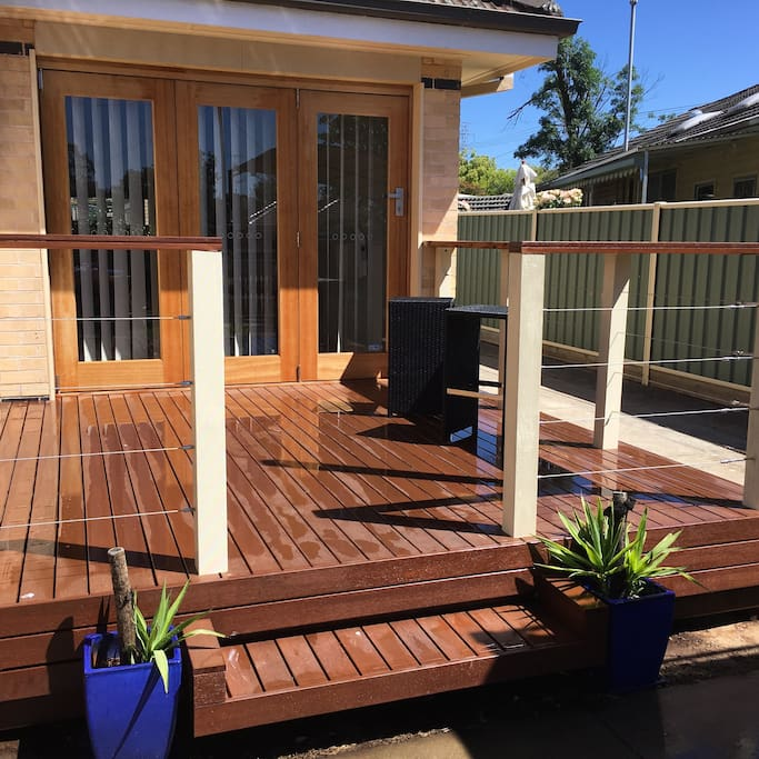 Front merbau deck and bar