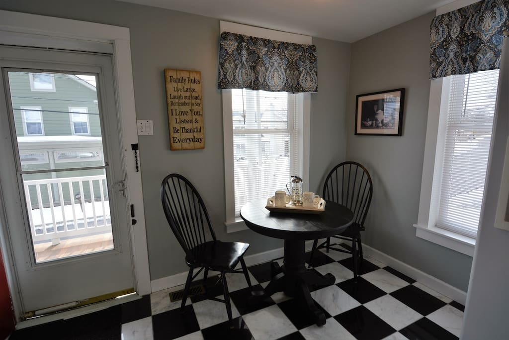 Breakfast nook off kitchen