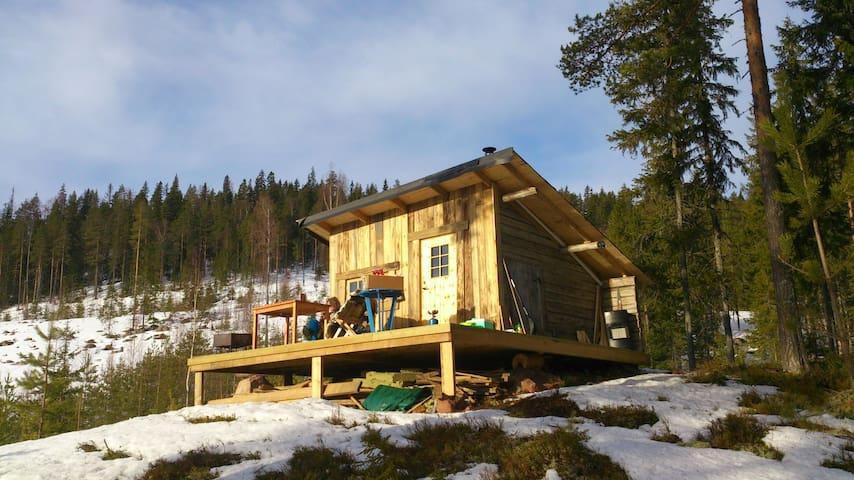 Liten enkel stuga i skogen - Indor - Blockhütte