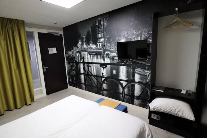 Comfortabele hotelkamer Amsterdam