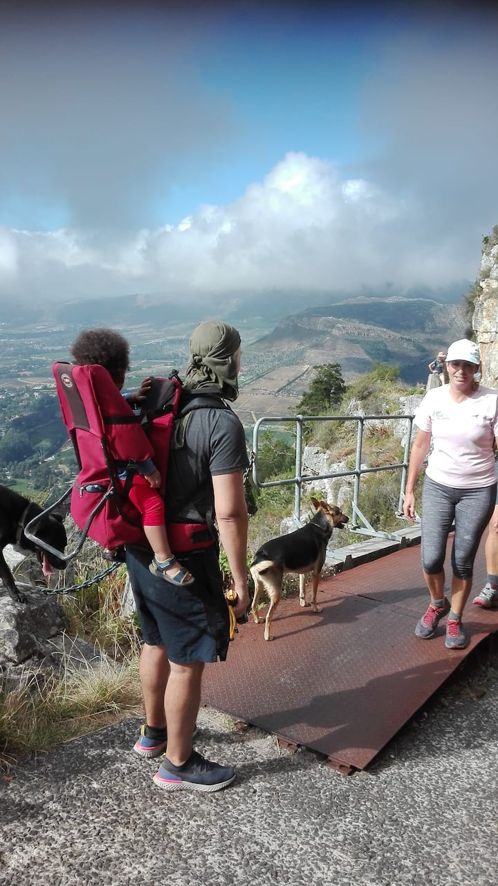 Guests take in the view on our descent