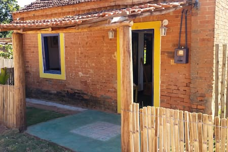 Linda Casa Colonial em meio à Mata Atlântica - Guaxupé - 小木屋