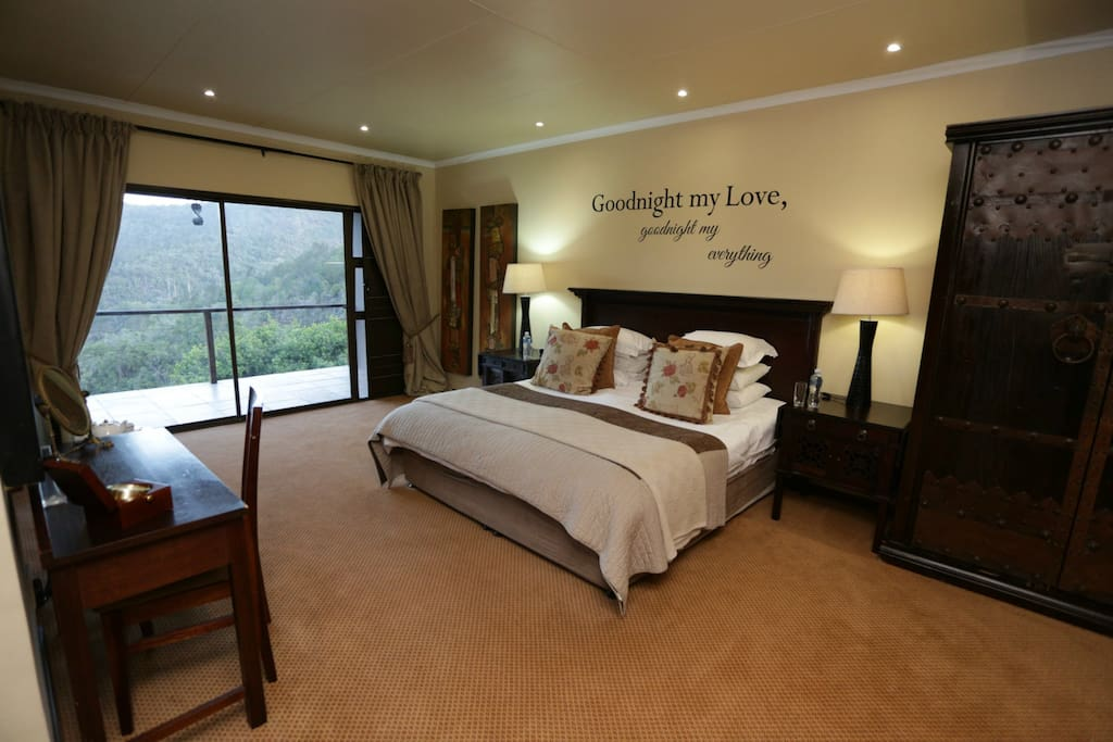 Honeymoon suite with private terrace.