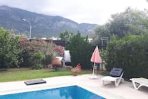 Fresh water swimming pool (appr 10x5m.)professionally maintained twice a week.