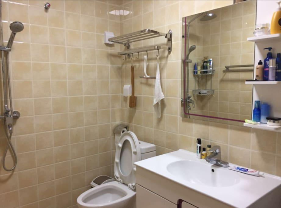 Clean , remodeled bathroom