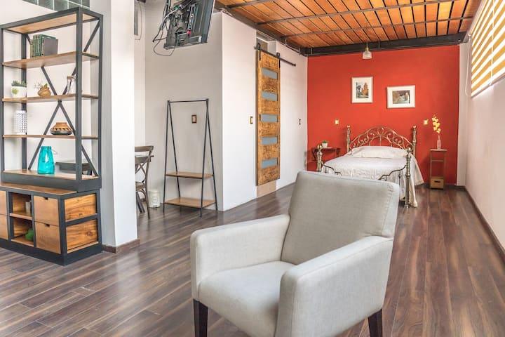 """Mi Refugio""-Hermoso Loft Studio, Centro Histórico"