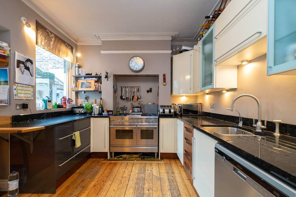 The kitchen is well equipped with everything you'll need to cook a meal