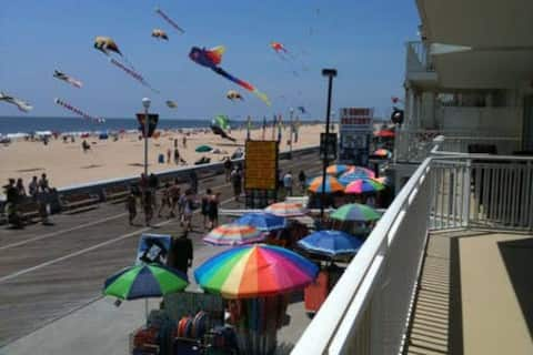 Right on the beach and boardwalk close to all the places that make Ocean City a great place to vacation