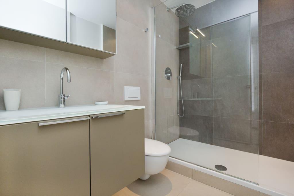 1ère salle de bain attenante à la chambre sur rue