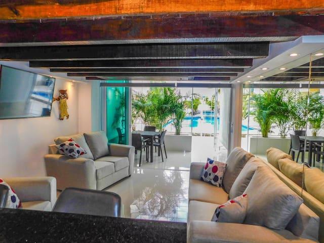 Boana Torre Malibu#003 pool view, romantic zone
