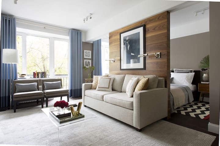 living room with bed-sofa