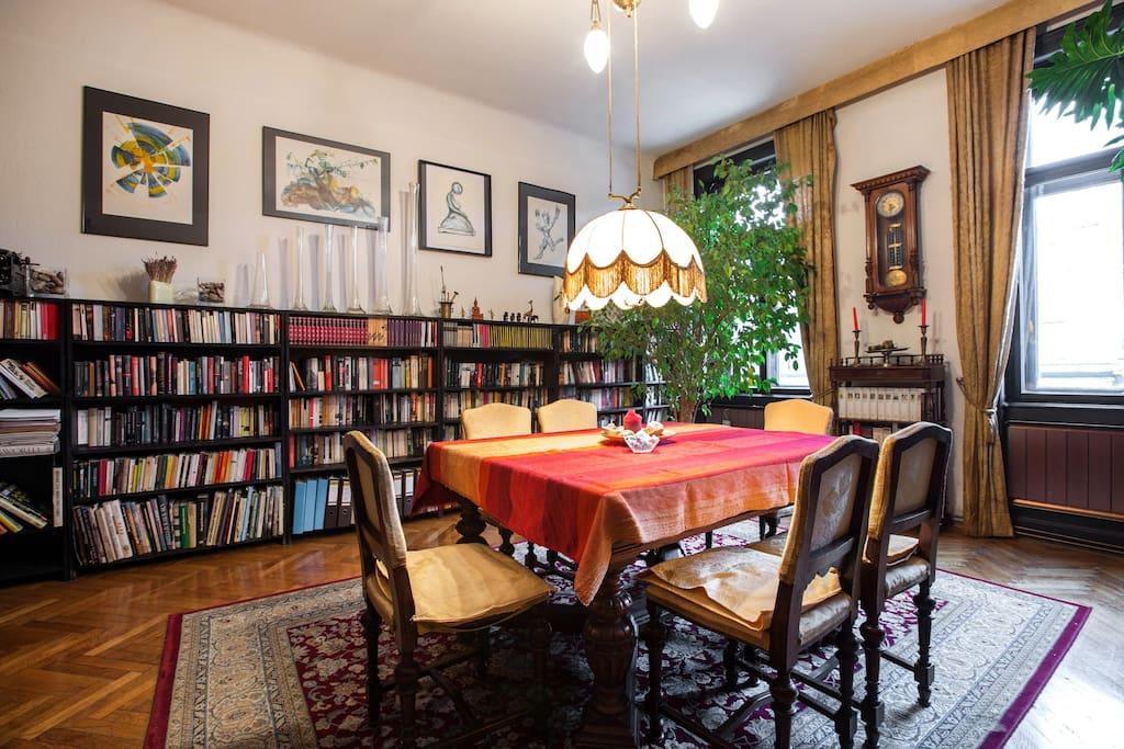 Wohnzimer-Bibliothek / Livingroom - Library