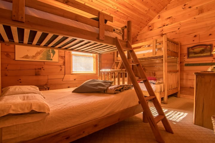 Bunk beds in the fourth bedroom, a kids' favorite!  Vaulted ceilings and plenty of space.