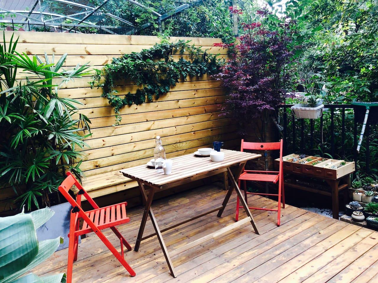 前花园餐桌