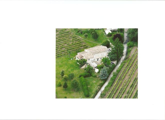Mas provençal au milieu des vignes. - Entrechaux
