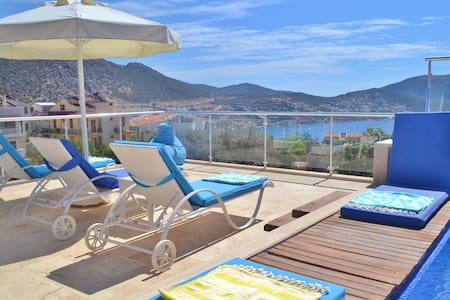 3 bedroom, luxury penthouse, private pool & BBQ - Kalkan Belediyesi