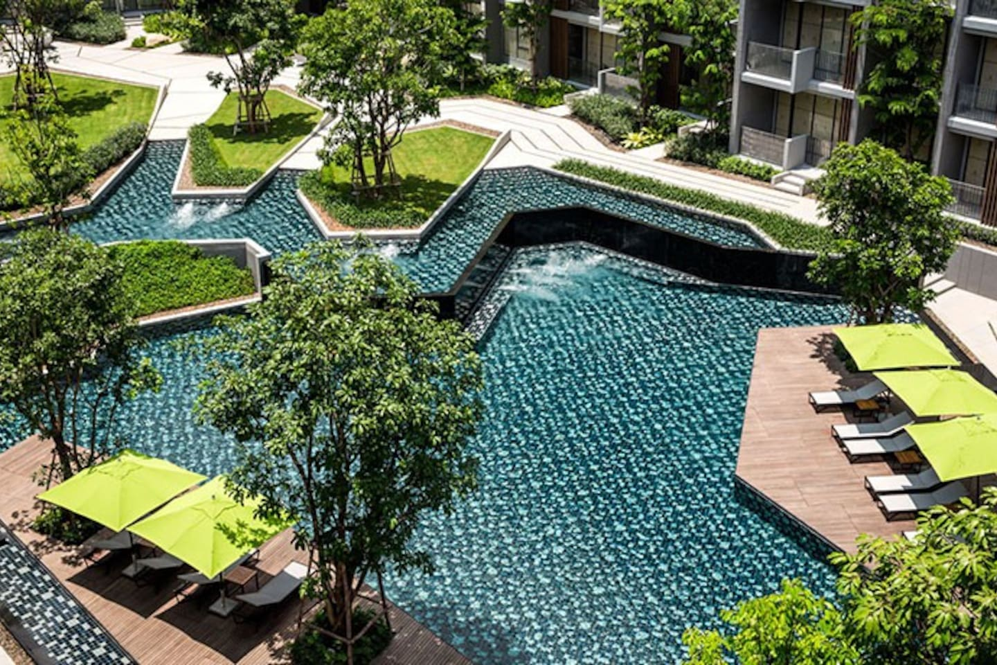 Outdoor Swimming pool with a touch of Nature