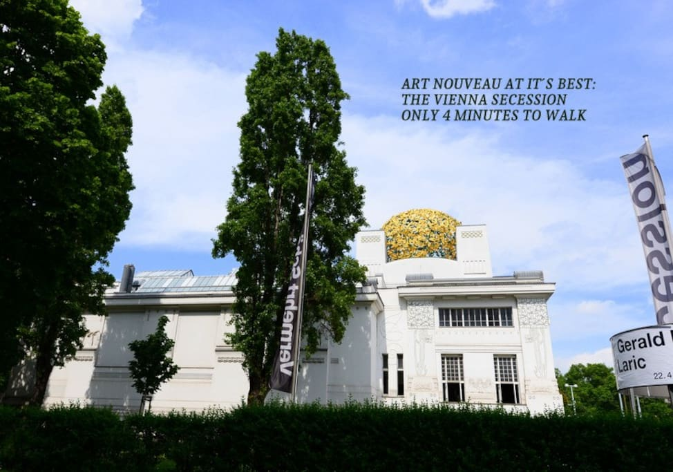 Art Nouveau - The wiener secession - only 5 minutes to walk