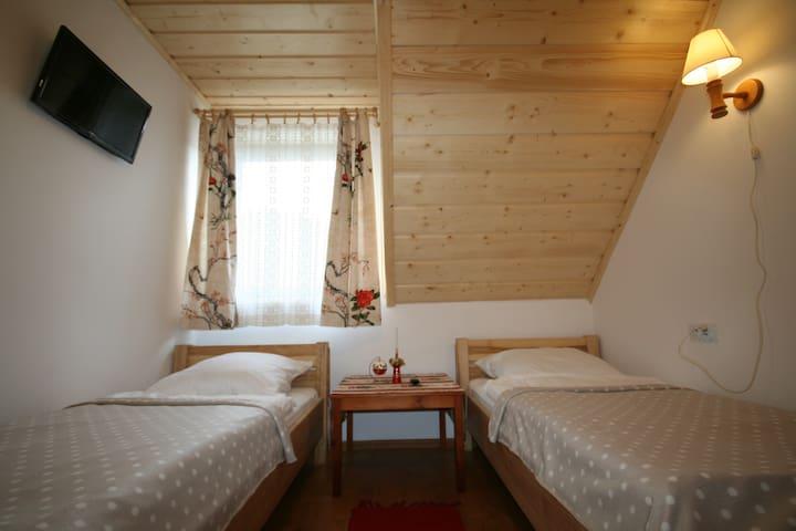 Willa Zazamcze - pokój 2 os (pojedyńcze łóżka)