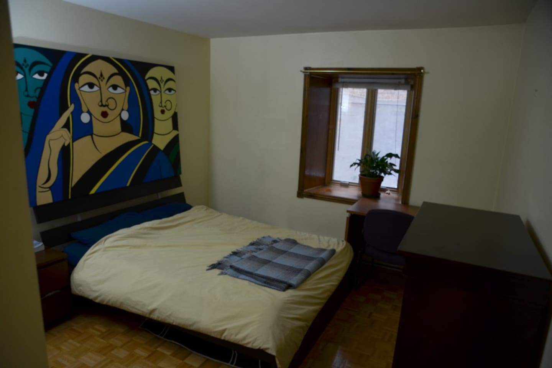 Queen Bed - desk - Chair - dresser - closet - mirror