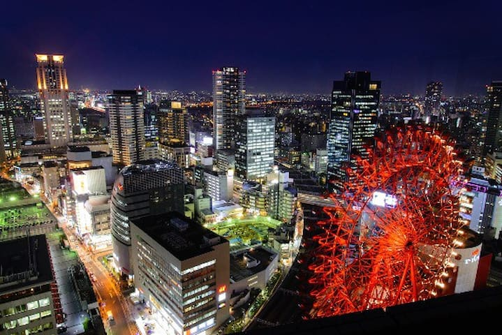 USJ,Nanba,Umeda,3min JR-ShinOsaka