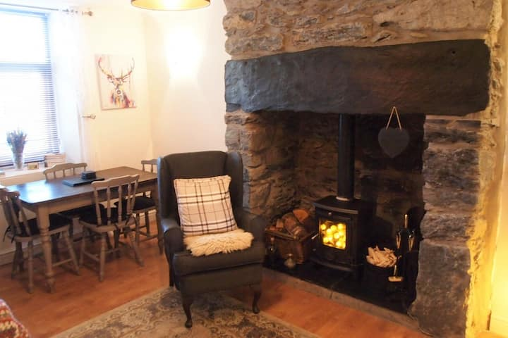 Cosy Slate Miners Cottage~Majestic Mountain Garden