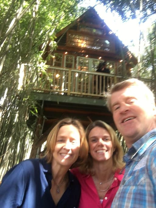 We are so honored!  Pete Nelson just spent the entire day filming here with his lovely crew for Animal Planet's _Ultimate Treehouse: Treehouse Masters_ .  It will air in September.