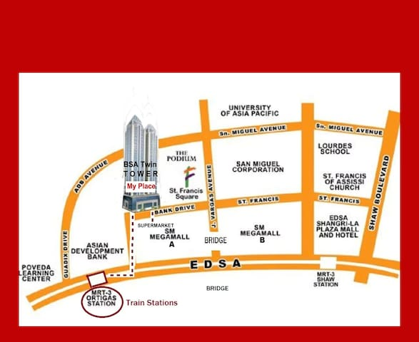 *Condo (BSA) Right Across SM MEGAMALL, Ortigas - Mandaluyong - Condominium