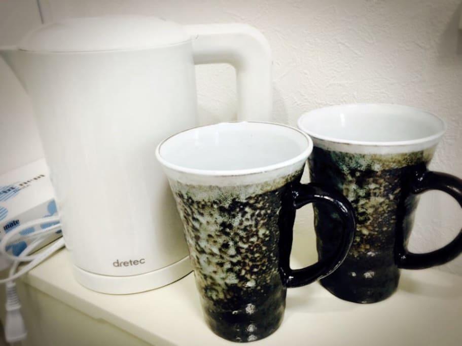 烧水壶,日式茶具。