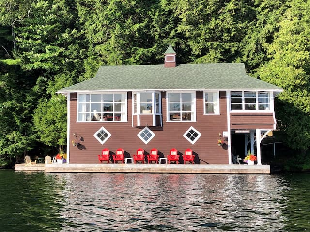 Muskoka Boathouse and Cabin Retreat