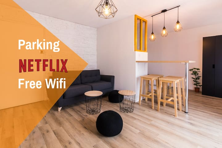 ★ Studio ToulouseCityStay Blagnac ★ Parking ★ Netflix ★ Wifi ★ Airbus ★ Airport
