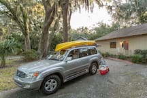 Imagine packing your gear for a day of kayaking on the marsh ....Kayak rentals available on the Island...