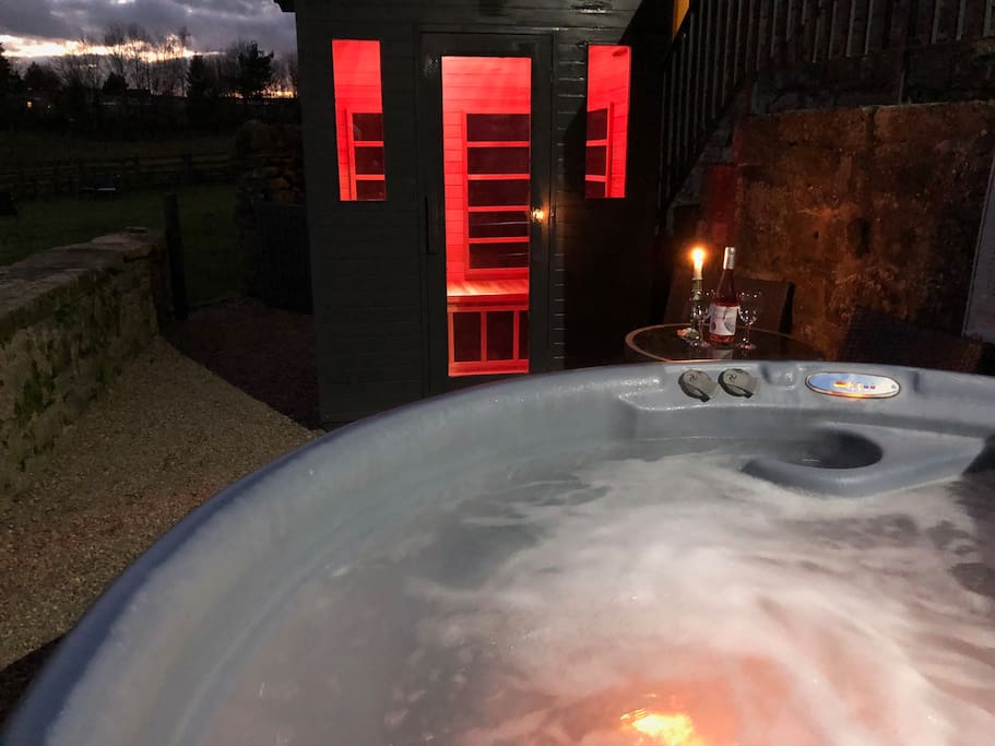 Terrace with Hot Tub and Infrared Sauna