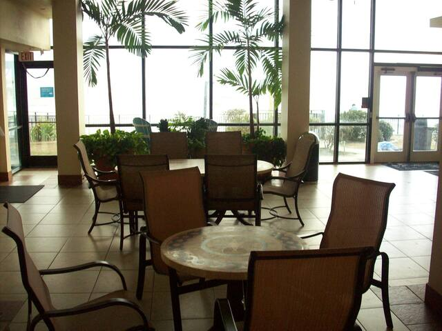 Ocean View from sitting area at the rear of the 1st floor lobby.