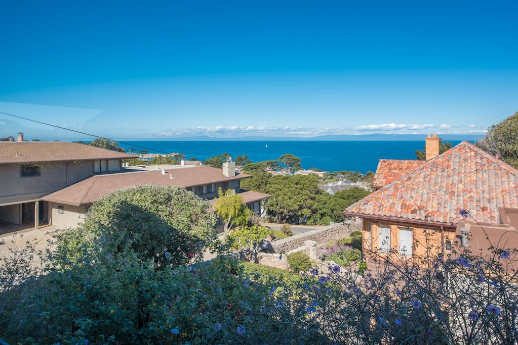 Breathtaking panoramic ocean views from this beautifully furnished home.