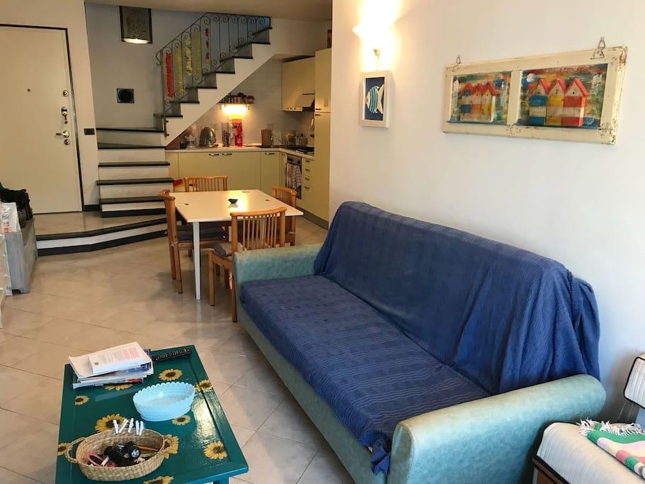soggiorno +divano a letto
