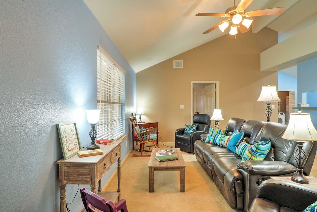 With nearly 2,000 square feet of living space, this home is great for larger groups.