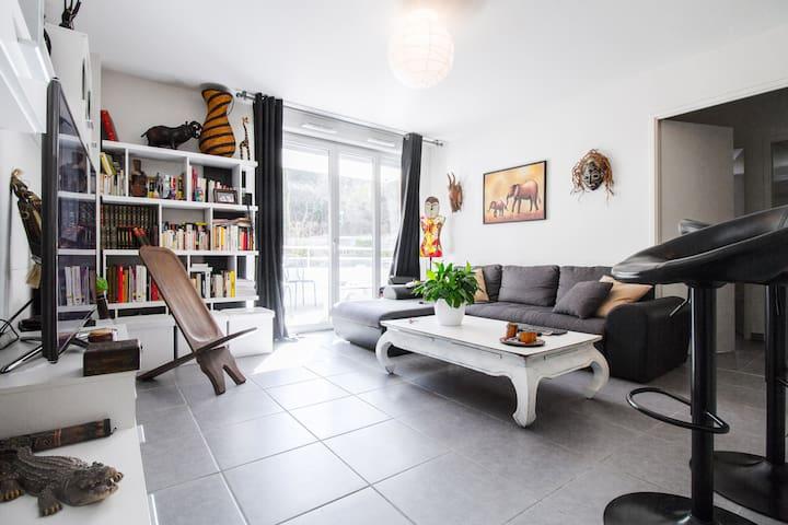 on se crois pas a toulouse tellement c'est calme - Toulouse - Apartamento
