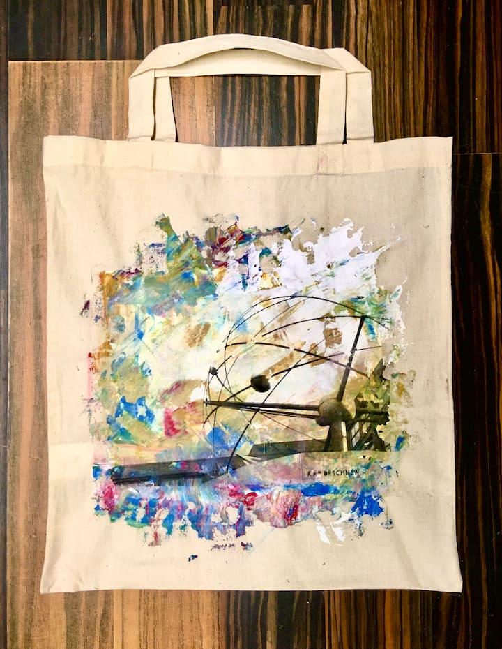 Photo transferbag w. acrylic background