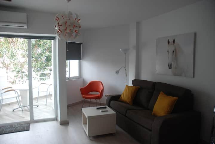 Apartamento con terraza en la playa, Mijas costa
