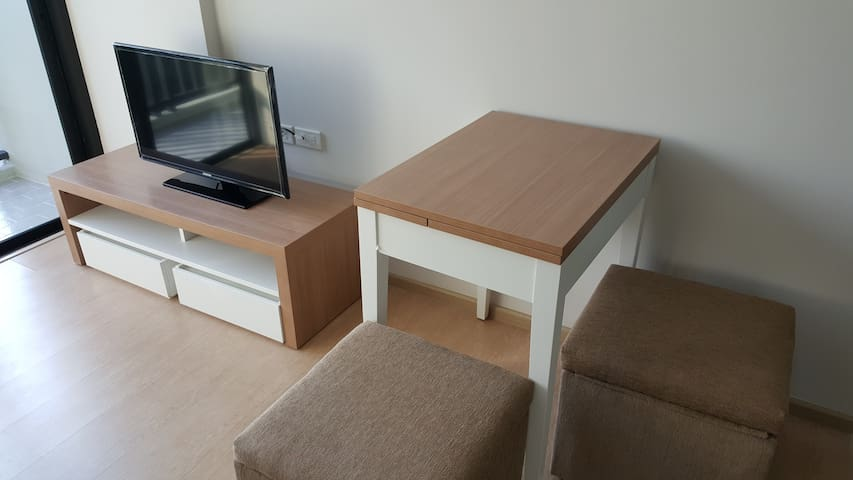 TV + dining area