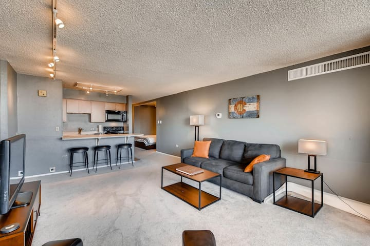 Downtown Denver High Rise w/balcony City Views!
