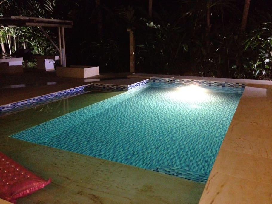 Moderna pisicna recreacional privada semiolimpica, ubicada en el centro de la propiedad, rodeada de jardines y naturaleza